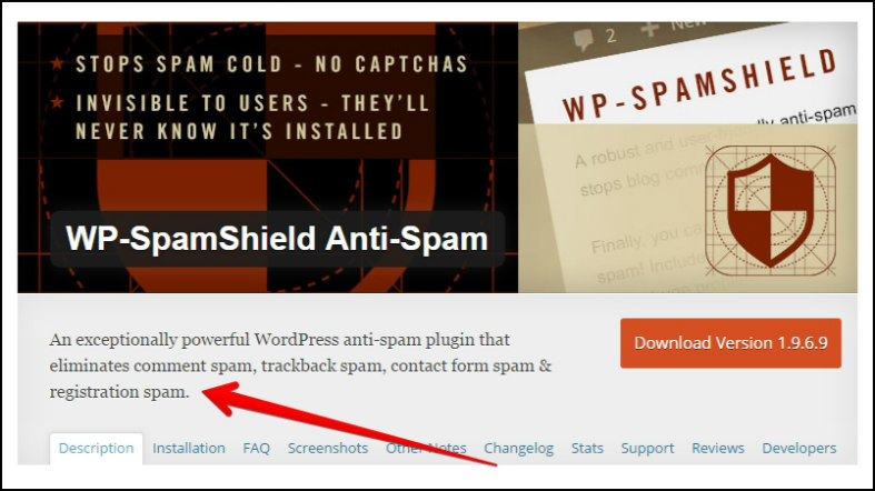 Plugin to stop spam on websites