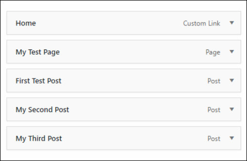 menu structure in wordpress custom menu