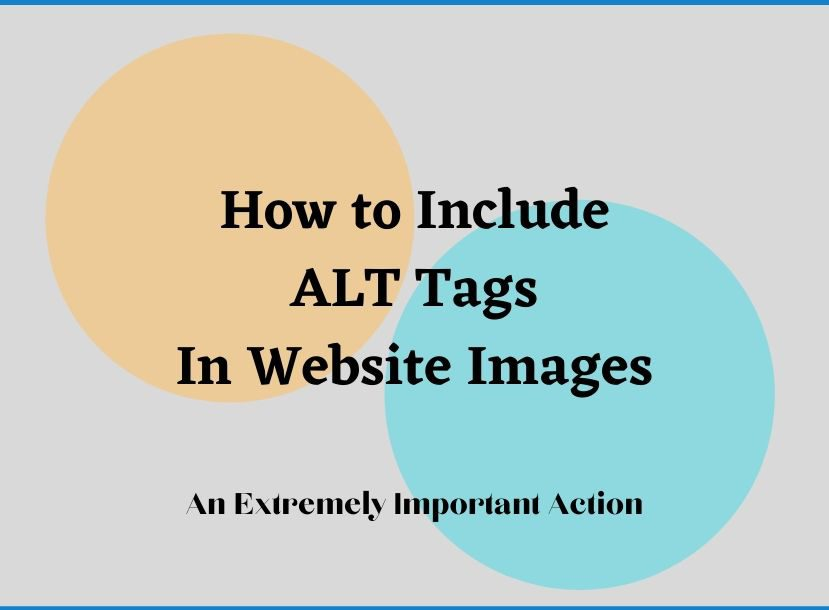 How to Include Alt Tags in Website Images
